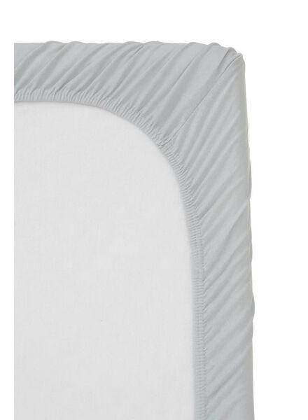 hoeslaken topmatras - jersey katoen - 180 x 220 cm - lichtgrijs - 5100158 - HEMA
