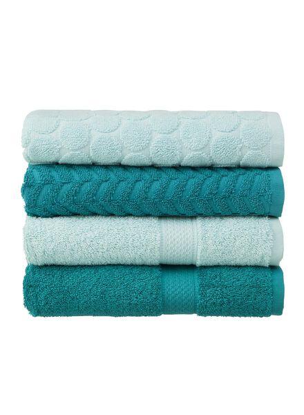 handdoek - 50 x 100 cm - zware kwaliteit - donkergroen uni - 5240022 - HEMA