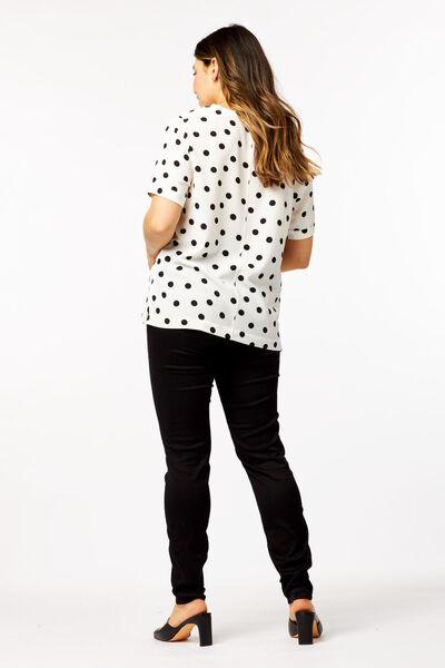 dames top stippen wit M - 36304062 - HEMA