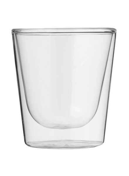 dubbelwandig glas 15 cl - 80682132 - HEMA