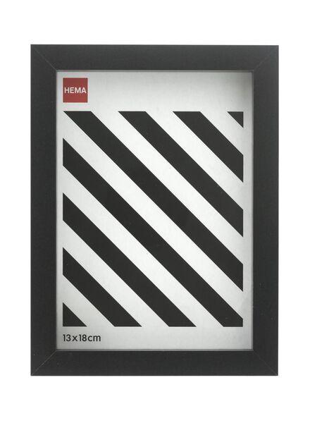 fotolijst 13 x 18 - hout zwart 13 x 18 zwart - 13691019 - HEMA