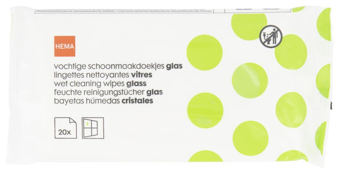 HEMA Vochtige Schoonmaakdoekjes Glas 29x18 - 20 Stuks