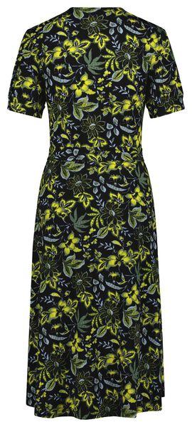 dames jurk met overslag bloemen multi multi - 1000024811 - HEMA