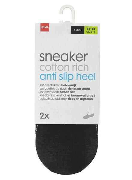 2-pak sneakersokken zwart zwart - 1000001234 - HEMA