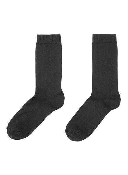 2-pak damessokken modal zwart zwart - 1000001675 - HEMA