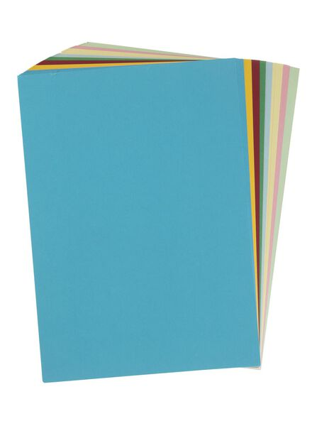 60-pak gekleurd karton A4 - 15990317 - HEMA