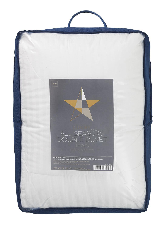 HEMA 4 Seizoenen Dekbed - Dons - 200 X 200 Cm (blanc)