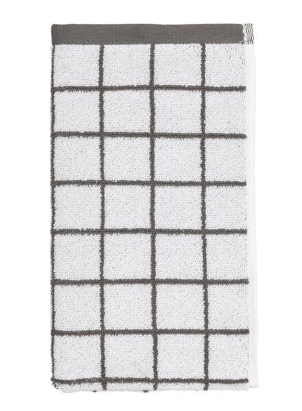 gastendoek - 30 x 55 - zware kwaliteit - wit ruit - 5210037 - HEMA