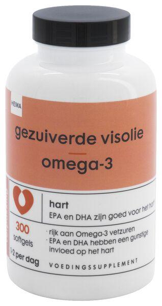 gezuiverde visolie omega-3 - 300 stuks - 11404004 - HEMA