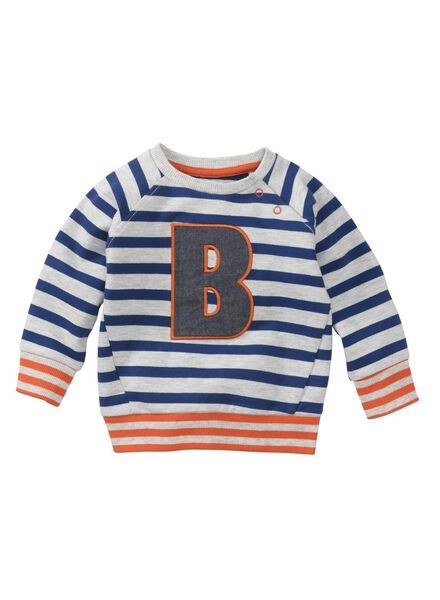 babysweater grijsmelange grijsmelange - 1000008554 - HEMA
