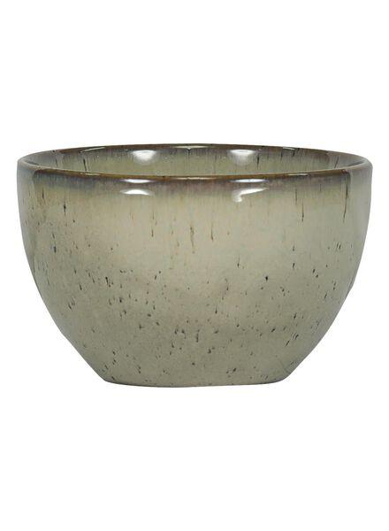schaal - 10 cm - Porto - reactief glazuur - sand - 9602039 - HEMA