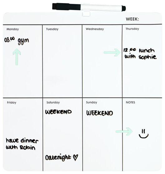whiteboard 30x30 weekplanner - 14822218 - HEMA