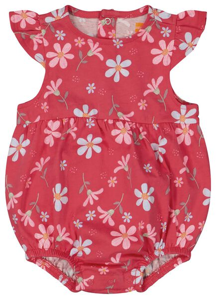 new born romper bloemen roze - 1000023936 - HEMA