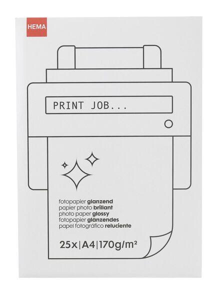 Glossy fotopapier - in Papier