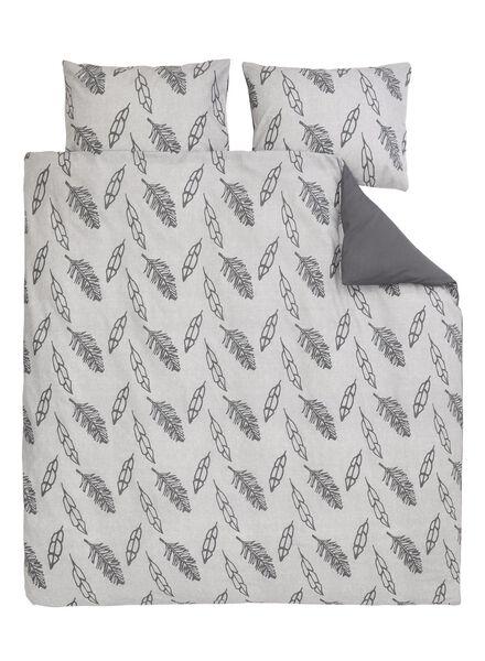 dekbedovertrek - zacht katoen - 200 x 200/220 cm - grijs veren - 5700184 - HEMA