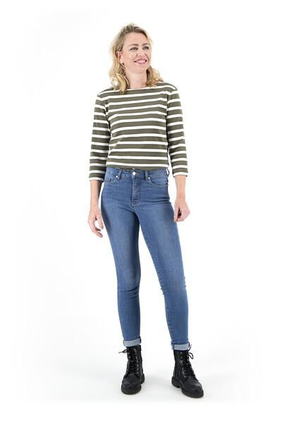 dames jeans - shaping skinny fit middenblauw 38 - 36337547 - HEMA