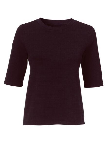 dames t-shirt wijnrood wijnrood - 1000009791 - HEMA