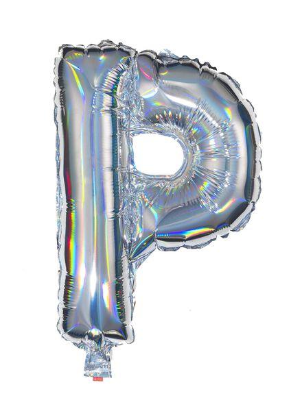 folieballon P - zilver P zilver - 60800447 - HEMA