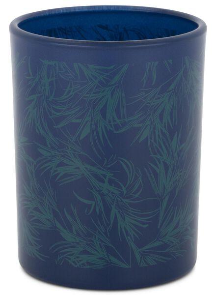 kaarsvaas - Ø 7 cm - blauw - 13502426 - HEMA