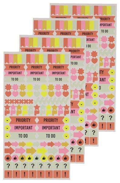 stickers voor plannen 10 vel 19x10 - 14164660 - HEMA