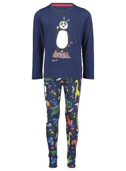 kinderpyjama kerst blauw blauw - 1000016978 - HEMA