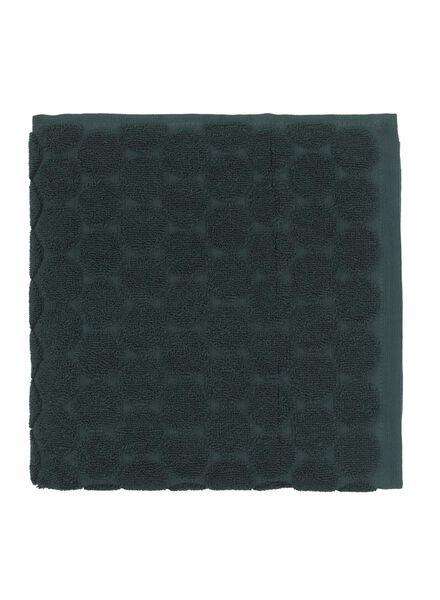 handdoek - 50 x 100 cm - zware kwaliteit - donkergroen stip - 5220017 - HEMA