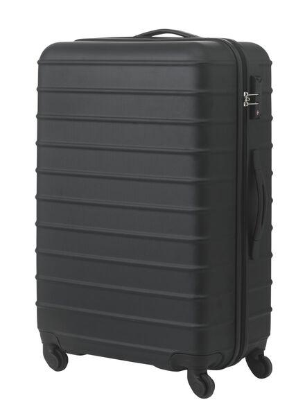 koffer - 77 x 52 x 28 - zwart streep 77 x 52 x 28 zwart - 18670002 - HEMA