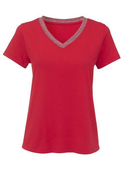 dames t-shirt rood - 1000009360 - HEMA