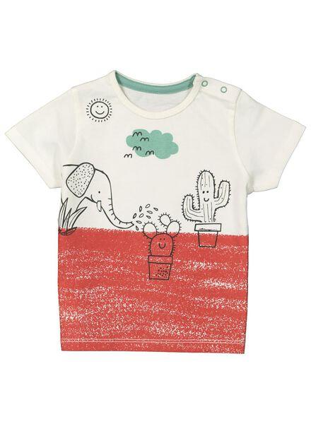 baby t-shirt cactus gebroken wit gebroken wit - 1000014428 - HEMA