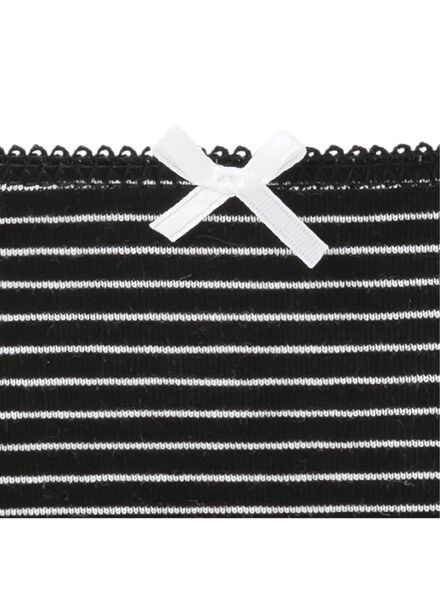 3-pak damesstrings wit/zwart wit/zwart - 1000002055 - HEMA