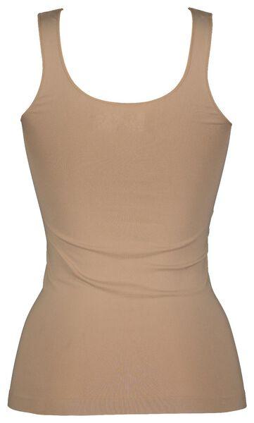 dameshemd naadloos micro beige beige - 1000021802 - HEMA