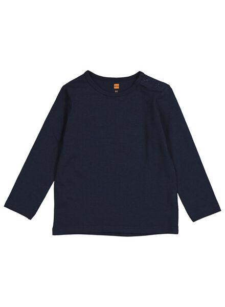 2-pak baby t-shirts met bamboe donkerblauw donkerblauw - 1000014326 - HEMA