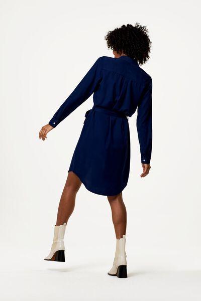 damesjurk donkerblauw donkerblauw - 1000022975 - HEMA