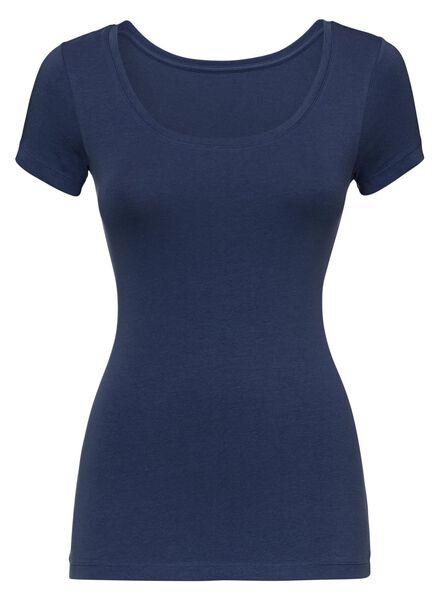 dames t-shirt donkerblauw donkerblauw - 1000005151 - HEMA