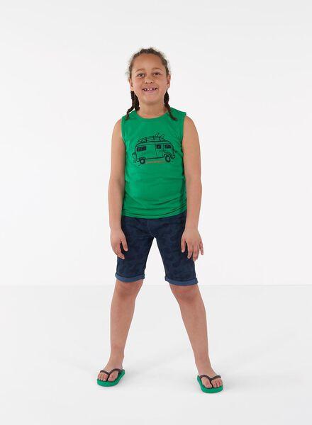 2-pak kinder sweatshorts groen groen - 1000013940 - HEMA