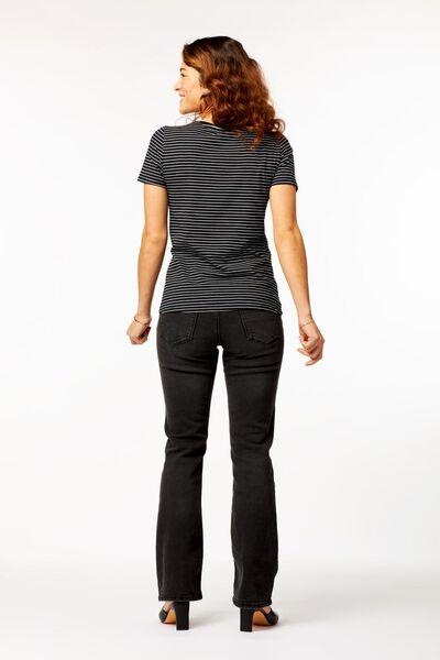 dames t-shirt strepen zwart/wit XL - 36304784 - HEMA
