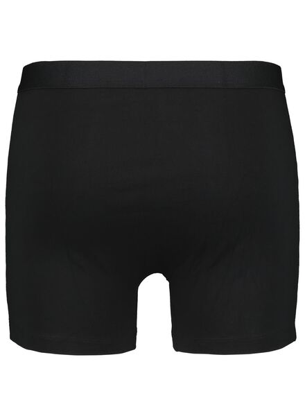 3-pak herenboxers lang zwart zwart - 1000015714 - HEMA