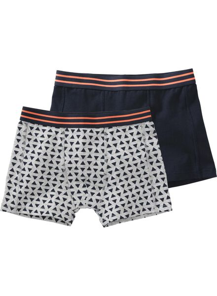 2-pak kinder boxers grijsmelange grijsmelange - 1000007302 - HEMA