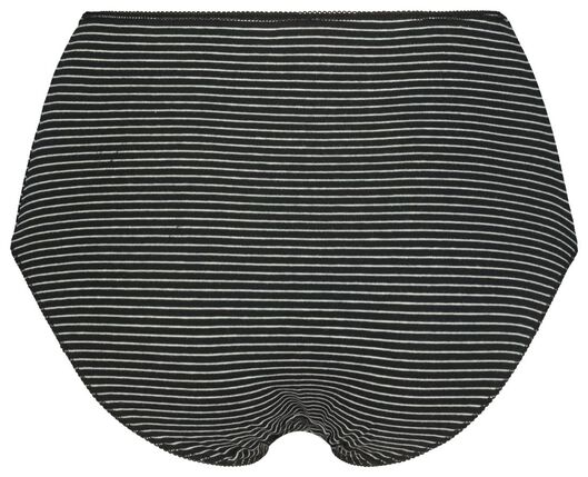 damesslips hoog 3 stuks zwart M - 19645162 - HEMA