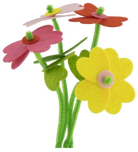 vilt bloemen maken - 4 stuks - 15900041 - HEMA