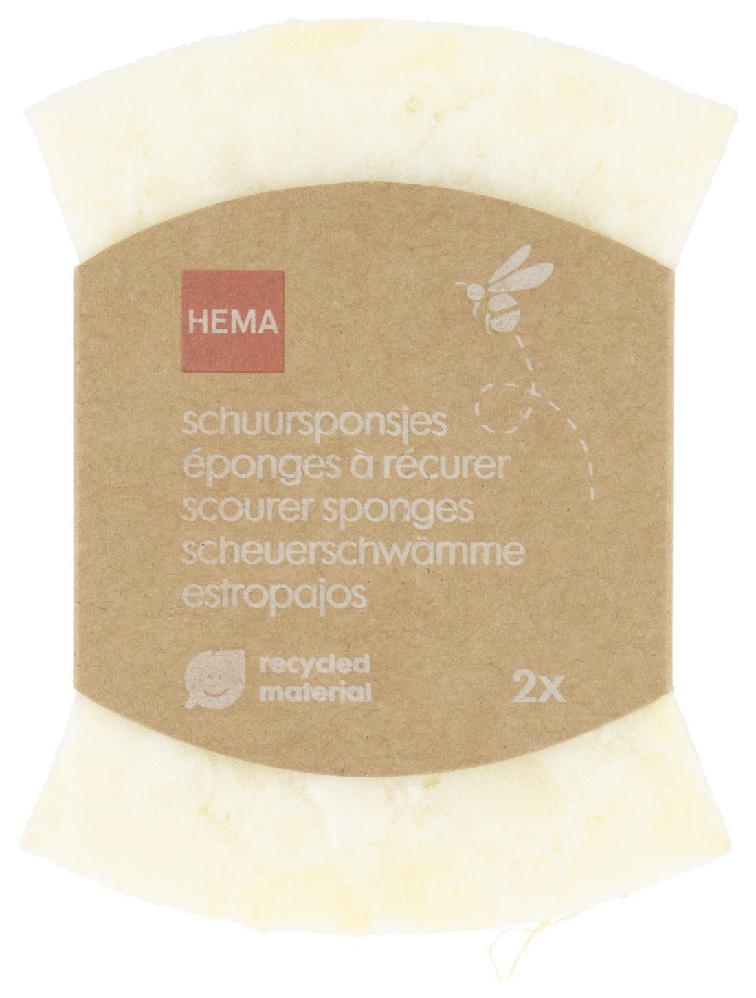 HEMA Schuurspons - Recycled - 2 Stuks