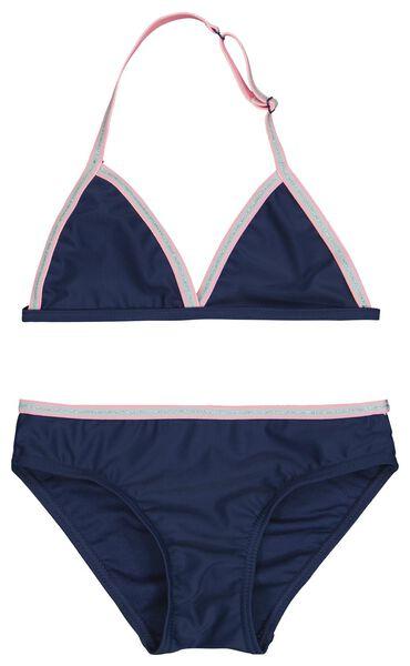 kinderbikini triangel donkerblauw 146/152 - 22230808 - HEMA