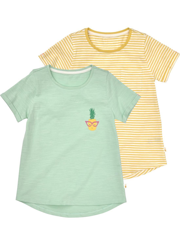 HEMA 2-pak Kinder T-shirts Lichtgroen (vert clair)