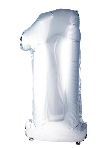XL folie ballon cijfer 1 - 60800153 - HEMA