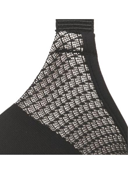 padded bh D-F cup micro zwart zwart - 1000006606 - HEMA