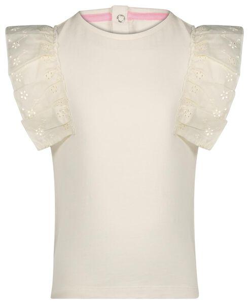 kinder t-shirt ruffle gebroken wit gebroken wit - 1000023250 - HEMA