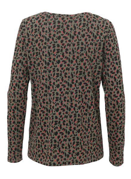 dames t-shirt olijf olijf - 1000011944 - HEMA