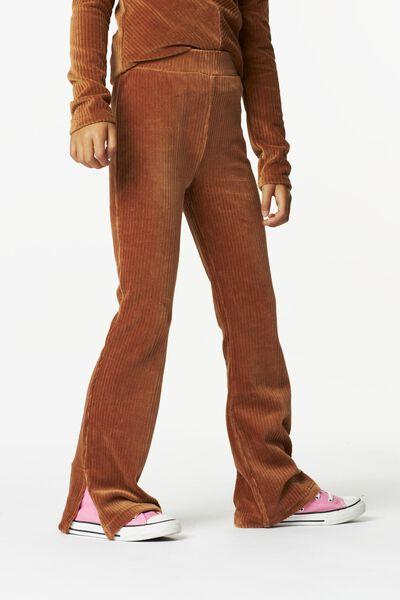 kinderlegging flared corduroy bruin 110/116 - 30817540 - HEMA