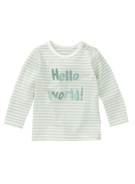 newborn baby t-shirt mintgroen mintgroen - 1000011136 - HEMA
