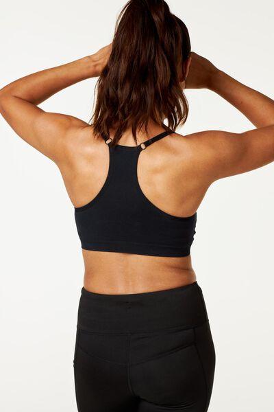 sportbeha naadloos zwart zwart - 1000002462 - HEMA